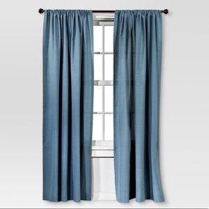 Threshold Blue Curtain Panels Pair